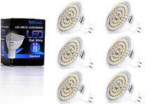 6X GU5.3 MR16 LED Lampe von Seitronic 4 Watt, 310LM und 60 LEDs Kalt weiß 6500K
