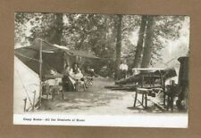 Camp Scene-- All the Comforts of Home, Inland Ptg. Spokane,WA,used Wardner,ID