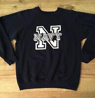 Vintage US Navy Sweatshirt Soffe Made In USA Men's Large 1980's