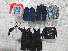 8 BOYS 12M TODDLER WONDER KIDS WINTER SKI SWEAT PANTS SHIRTS OUTFIT BULK LOT