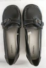 73eaa71070f2 NEW Xhilaration women wedge Platform black leather loafers Sq. toe -9