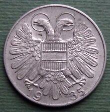 1935 Österreich Münze 1 Schilling Oesterreich Kupfer-Nickel Km#2851 Schön #55