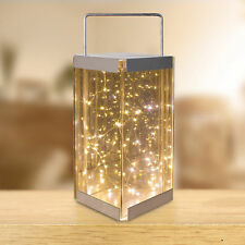 Anika Reflections Lantern - 30 warm white, LED, rice bulb, mirror, reflective