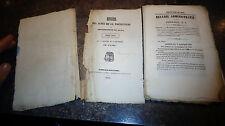 Recueil des Actes Administratifs Département du JURA Année 1844 Franche Comté