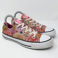 Converse All Star Womens Ladies 553298F Pink Floral Fashion Sneakers Shoes Sz 6