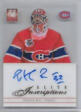 12-13 PANINI ELITE INSCRIPTIONS AUTOGRAPH #EI-PR PATRICK ROY AUTO CANADIENS