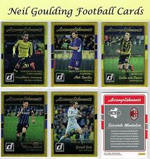 DONRUSS Soccer 2016 ☆ ACCOMPLISHMENTS GOLD PARALLEL ☆ Football Cards #1 to #20