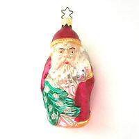 Christmas Ornament Antique Handblown Glass Santa Claus - W Germany