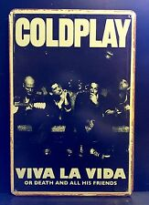 COLDPLAY Concert Poster Vintage Retro METAL SIGN  Music Wall Decor 20x30 Cm