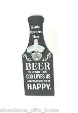 'Beer Proof that God loves Us' Wall Mount BOTTLE OPENER Man Cave Garage Bar Sign