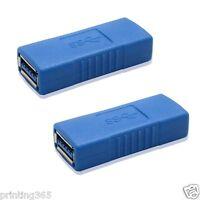 2x USB 3.0 Typ A Buchse auf Buchse Adapter Kupplung Gender  Changer Verbinder