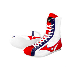 Mizuno Boxing Ring shoes White × Red × Navy Made in JAPAN free shipping from JPN