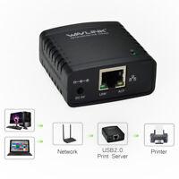 Wavlink USB2.0 LPR Printer Server MFT Network Server Print Share LAN Networking