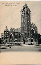ROCHESTER NY – New First M. E. Church Rotograph Postcard – udb (pre 1908)