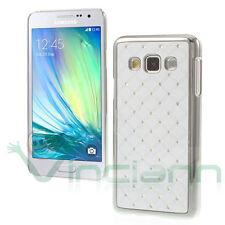 Custodia BRILLANTINI per Samsung Galaxy A3 A300FU cover BIANCA diamond rigida