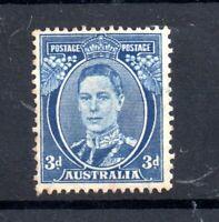Australia KGVI 1940 3d blue Perf 15 & 14 DIE III MH SG186 WS20488