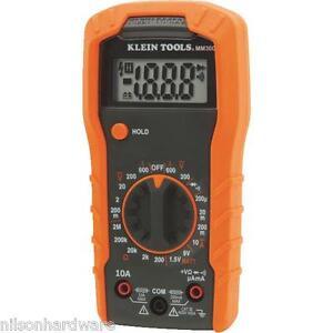Klein Manual Range Multimeter Measures AC/DC Voltage MM300