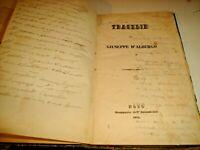 TRAGEDIE di G. D'ALBERGO - STAMPERIA DELL'INTENDENZA NOTO 1842