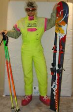 RODEO SNOWBOARD NEON  Retro Vintage 80's 90's Ski Suit STAG Apres Ski S/M