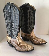 Snakeskin Cowtown Boots Python Unisex Men's 5 1/2/Also Fits Women 7 1/2 W