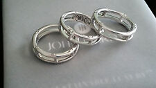 John Hardy - Sterling Silver Bamboo Collection Triple Stack Rings - Mint!