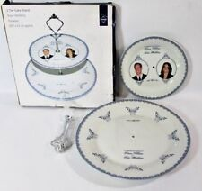 William & Kate Royal Premier 2 Porcelain Tier Cake Stand Royal Wedding MIB