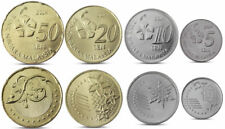 MALAYSIA CURRENCY - 2014 UNC COMPLETE COIN BU SET! 4 COINS 5 + 10 + 20 + 50 SEN