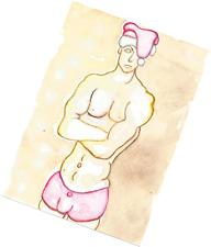 NUDE GAY SANTA ART - ORIGINAL PAINTING - ONE OF A KIND ARTWORK