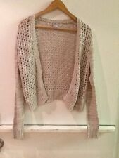 Converse One Star S Cardigan Sweater Cotton Beige White Womens Open Weave Knit