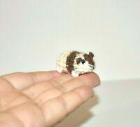 Miniature Dollhouse Guinea Pig Crochet Doll's Pet Tiny Stuffed Animal Toy