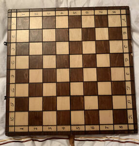 Cherry Wood Chess Board Complete