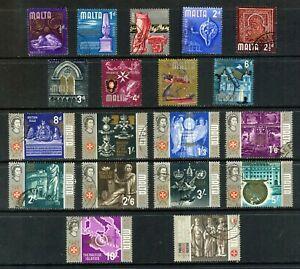 MALTA 1965 HISTORY SET OF 19 FINE USED TO £1 SG 330 - 348