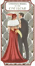 TO THE ONE I LOVE Quality CHRISTMAS Card Stylish Art Deco Design