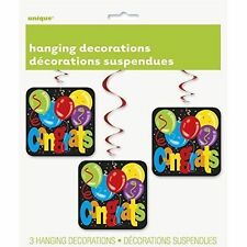 32' Hanging Congratulations Party Decorations Pack of 3