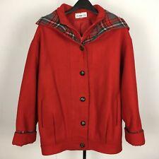 Herman Kay Red Zip-up Pea Coat VINTAGE Size 6