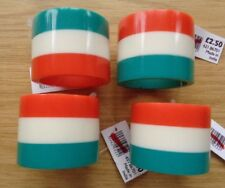 JOHN LEWIS SET OF 4 TRICOLOUR NAPKIN RINGS - NEW WITH TAGS