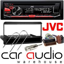 Ford Fiesta 1995-02 JVC Car Stereo CD MP3 Radio USB Aux Player Black Finish Kit