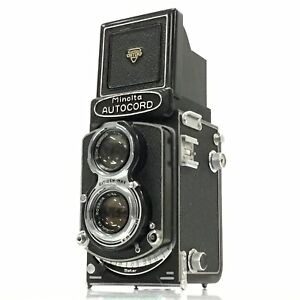 Minolta Autocord TLR CAMERA + ROKKOR 75mm f/3.5 From Japan AS-IS TK01H