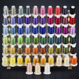 Polyester Embroidery Threads 63 Colors Machine Threads 40-Weight, 550-Yds