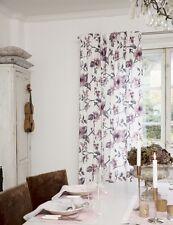 Vorhang Set Gardine 2 x 140x260 Shabby Vintage Landhaus Nordic Blüten Blumen NEU