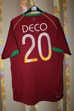 PORTUGAL NATIONAL TEAM 2006/2008 FOOTBALL SHIRT CAMISETA MAILLOT JERSEY #20 DECO