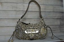 Guess Jacquard Signature G Print Studed Purse Shoulder Handbag Black Clutch Smal