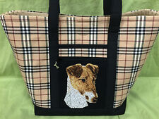 Gorgeous Custom Embroidered Jack Russell Terrier Tote