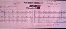 Gary Player - Bill Kilmer Official Tournament Used Autographed/Signed Scorecard