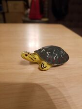 Vintage small pvc Turtle Larami Western Painted Turtle Reptile Realistic Color
