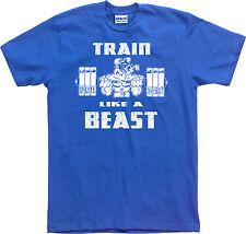 TRAIN LIKE A BEAST T-shirt - S to 6XL -  Powerlifting Gym Bodybuilding Strongman