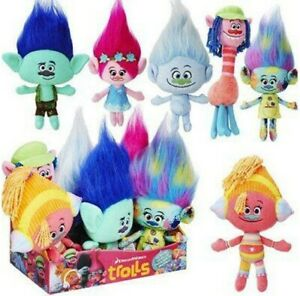 Official Licenced Dreamworks Trolls Soft Toy Plush Body & Hair Toy 30cm - NEW