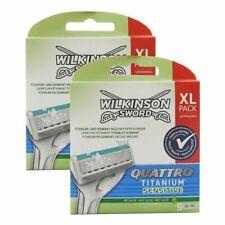 10 Wilkinson Sword Quattro Titanium Sensitive Rasierklingen 2 x 5 Klingen OVP