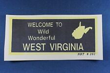 O - S - O-27- Billboard Inserts - 1 Sign - Repro - Welcome To West Virginia