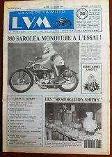 LVM - La Vie de la Moto n°86 du 1/1/1992; 350 Saroléa monotube à l'essai